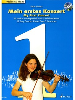 Peter Mohrs: My First Concert (Violin) Books and CDs | Violin, Piano Accompaniment