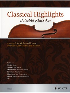 Classical Highlights - Violin/Piano Books | Violin, Piano Accompaniment