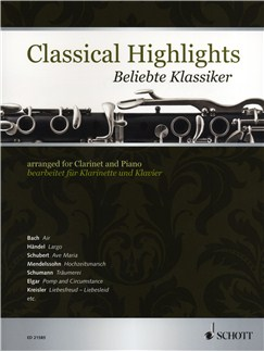 Classical Highlights - Clarinet/Piano Books | Clarinet, Piano Accompaniment