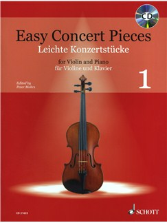 Easy Concert Pieces Volume 1 - Violin Books and CDs | Violin, Piano Accompaniment