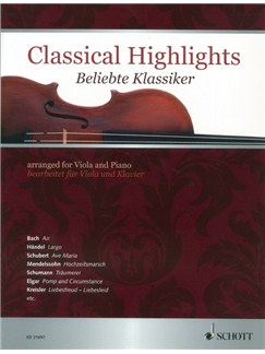 Classical Highlights For Viola And Piano Books | Viola, Piano Accompaniment