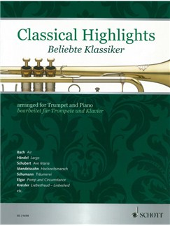 Classical Highlights For Trumpet And Piano Books | Trumpet, Piano Accompaniment