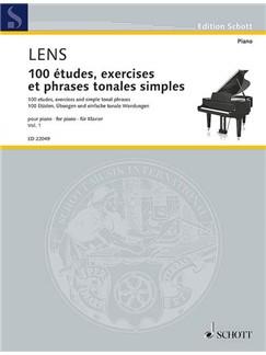 Nicholas Lens: 100 Etudes, Exercises And Simple Tonal Phrases Vol. 1 Books | Piano