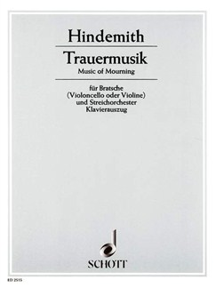 Paul Hindemith: Trauermusik Books | Viola, Piano Accompaniment