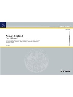 From Old England, English Airs and Dances for Treble Recorder Books | Keyboard, Alto (Treble) Recorder