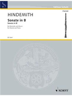 Paul Hindemith: Sonata For Clarinet Books | Clarinet, Piano Accompaniment
