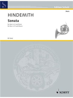 Paul Hindemith: Sonata For Horn In F And Piano Books | Horn, Piano Accompaniment