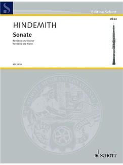 Paul Hindemith: Sonata For Oboe Books | Oboe, Piano Accompaniment