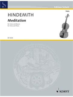 Paul Hindemith: Meditation For Viola And Piano Books | Viola, Piano Accompaniment