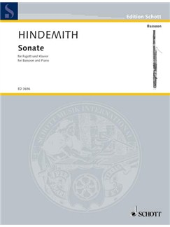 Paul Hindemith: Bassoon Sonata Books | Bassoon, Piano Accompaniment