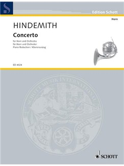Paul Hindemith: Horn Concerto (Horn/Piano) Books | Horn, Piano Accompaniment
