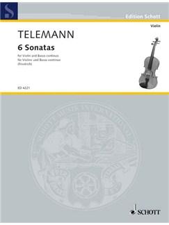 Georg Philipp Telemann: 6 Sonatas Books | Violin, Continuo