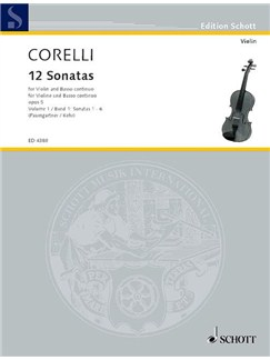 Arcangelo Corelli: 12 Sonatas Book 1 (Violin/Piano) Books | Violin, Piano Accompaniment