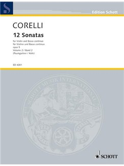 Arcangelo Corelli: 12 Sonatas Op.5 Volume 2 Books | Violin, Piano Accompaniment