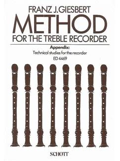 Method For Treble Recorder - Franz J. Giesbert Books | Alto (Treble) Recorder