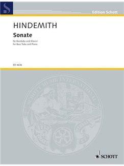 Hindemith: Sonata For Tuba & Piano Books | Tuba