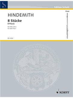 Paul Hindemith: Acht Stucke For Solo Flute Books | Flute