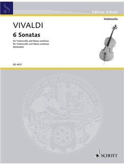 Antonio Vivaldi: Six Cello Sonatas Books | Cello, Continuo