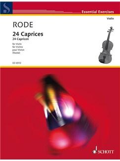Caprices 24 Vln Solo Ed Rostal Books | Violin