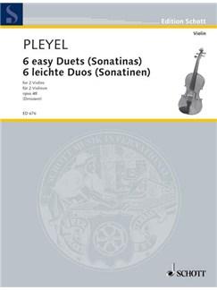 Ignaz Joseph Pleyel: Six Easy Duets (Violin) Books | Violin (Duet)