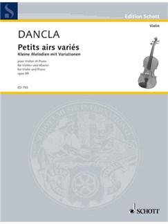 Charles Dancla: Kleine Melodien Mit Variationen Op.89 Books | Violin, Piano Accompaniment