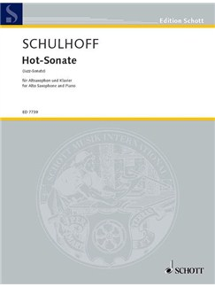 Erwin Schulhoff: Hot-Sonate For Alto Saxophone And Piano Books | Alto Saxophone, Piano Accompaniment