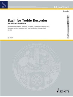 Bach for Treble Recorder Books | Alto (Treble) Recorder