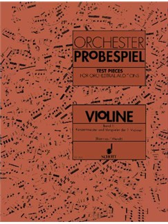 Test Pieces For Orchestral Auditions - Violin Vol. 1 Books | Violin