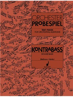 Orchester Probespiel: Test Pieces For Orchestral Auditions - Double Bass Books | Double Bass