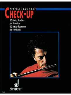 Peter-Lukas Graf: Check-Up - 20 Basic Studies For Flute Books | Flute