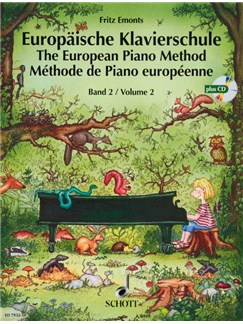 Emonts: Europäische Klavierschule (The European Piano Method) Vol.2 mit CD Books and CDs | Piano