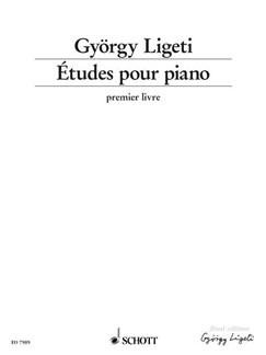 Gyorgy Ligeti: Etudes Pour Piano Book 1 Books | Piano