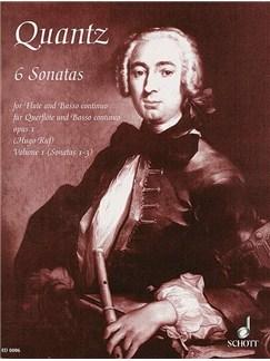 Johann Quantz: Six Flute Sonatas Vol. 1 Books | Flute, Piano Accompaniment