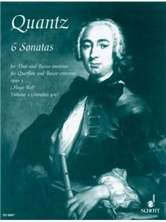 Johann Quantz: Six Flute Sonatas Vol. 2 Books | Flute, Piano Accompaniment