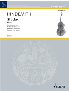 Paul Hindemith: Pieces For Solo Double Bass Books | Double Bass