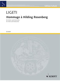 Gyorgy Ligeti: Hommage a Hilding Rosenberg Books | Violin, Cello