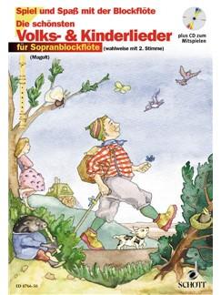 Die schönsten Volks- Und Kinderlieder Books | Soprano (Descant) Recorder