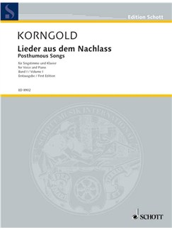 Erich Wolfgagn Korngold: Posthumous Songs Vol.1 Books | Voice, Piano Accompaniment