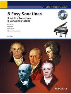 8 Easy Sonatinas Books and CDs | Piano