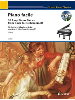 Piano Facile: 30 Easy Piano Pieces From Bach To Gretchaninoff Books | Piano