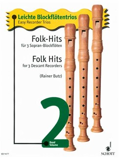 Folk Hits for Three Descant Recorders Books | Soprano (Descant) Recorder, Recorder Ensemble