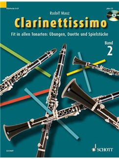 Rudolf Mauz: Clarinettissimo (Band 2) Books and CDs | Clarinet