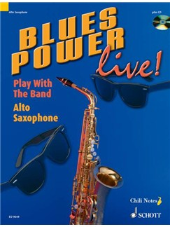 Blues Power Live Alto Sax Bk/Cd Books | Alto Saxophone