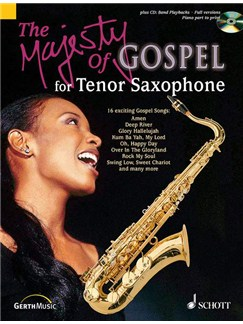 Majesty Of Gospel Tenor Sax Bk/Cd Books | Tenor Saxophone