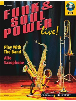 Funk And Soul Power Live! (Alto Saxophone) Books and CDs | Alto Saxophone