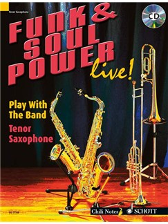 Funk And Soul Power Live! (Tenor Saxophone) Books and CDs | Tenor Saxophone