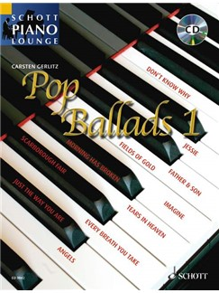 Schott Piano Lounge: Pop Ballads 1 Books and CDs | Piano