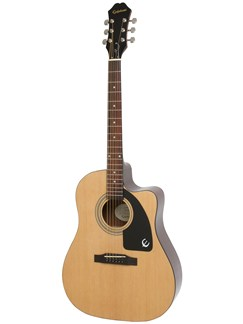 Epiphone: AJ-100CE (Natural) Instruments | Electro-Acoustic Guitar