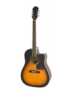 Epiphone:  AJ-220SCE Solid Top Electro-Acoustic Guitar (Vintage Sunburst) Instruments   Electro-Acoustic Guitar
