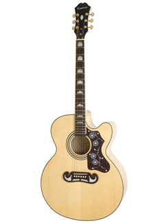 Epiphone: EJ-200CE (Natural/Gold Hardware) Instruments | Electro-Acoustic Guitar